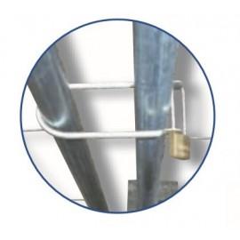 Schake Bauzaunschloss U-Bügel, mit Vorhängeschloss