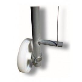 Schake Laufrolle für Bauzaun-Torelement, inkl. Rohrschelle