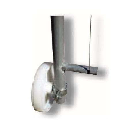 Laufrolle für Bauzaun-Torelement, inkl. Rohrschelle