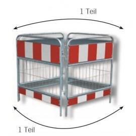 Schake Schachtschutzgitter nach TL, 1,00 m x 1,00 m, 1,60 m x 1,60 m und 2,00 m x 2,00 m, 2- teilig
