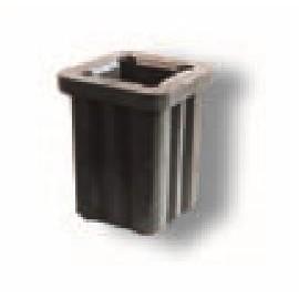 Schake Schilderklemme aus Kunststoff für Schaftrohr Ø 42 mm u. 60 mm x 60 mm Schaftrohre