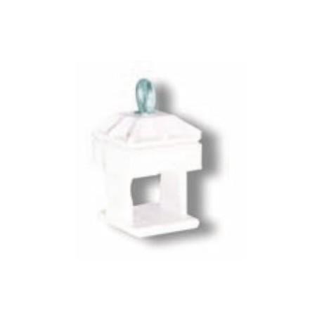 Schake Schilderklemme aus Kunststoff - passend für Vierkantrohre 40 mm x 40 mm und Rundrohre Ø 42 mm