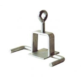 Schake Schilderklemme, passend für Vierkantrohre 40 mm x 40 mm und Rundrohre Ø 42 mm