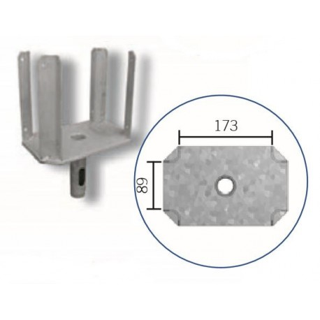 Schake Kopf für Schalungsstützen Typ Schwer, Ø 38,0 mm