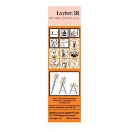 Layher Universal-Leiternetikett - gemäß DIN EN 131