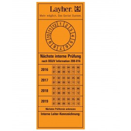Layher Prüfetikett gemäß Betriebssicherheitsverordnung