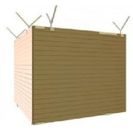 Schake Holzbauzaun aus handelsüblichem 20 mm starkem Massivholz