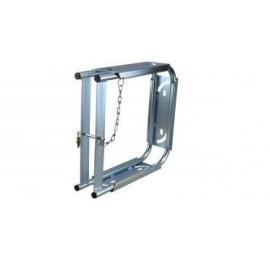 LuxTek Singleplattenbox aus Rundstahl, galvanisch verzinkt
