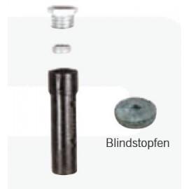 Schake Bodenhülse für Ø 76 mm Rohrpfosten, aus Grauguss, mit Gewinde und Spannring