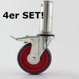Altrex Satz Räder Ø 125 mm (pro 4 Stück) für Klappgerüste RS TOWER der 4er und 5er Serie