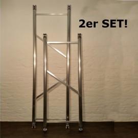 ASC Doppelgeländer m 2er-Sparset für Gerüste mit 190 cm, 250 cm und 305 cm Plattformlänge