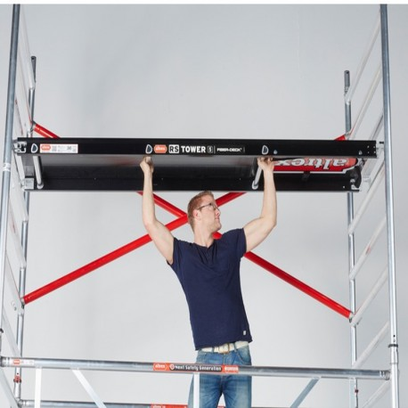 Altrex Plattform mit Luke 185 cm, 245 cm, 305 cm, Holzbelag