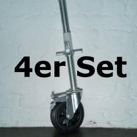 ASC Rad + Alu Spindel im 4er-Sparset, DR RUBBER 275 kg (gummiert)