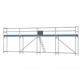 ERNST Traufseitengerüst 40 m² - 2,5 m Felder - 10 m lang - 4 m Arbeitshöhe