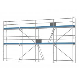 ERNST Fassadengerüst - 60 m² - 2,5 m Felder - 10 m lang - 6 m Arbeitshöhe