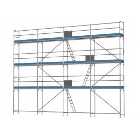 ERNST Fassadengerüst - 80 m² - 2,5 m Felder - 10 m lang - 8 m Arbeitshöhe