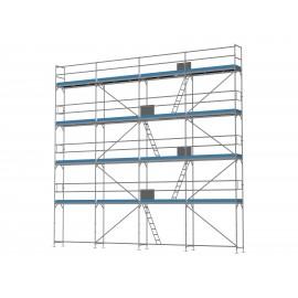 ERNST Fassadengerüst - 80 m² - 2,5 m Felder - 10 m lang - 10 m Arbeitshöhe