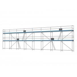 ERNST Traufseitengerüst 120 m² - 2,5 m Felder - 20 m lang - 6 m Arbeitshöhe