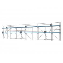 ERNST Traufseitengerüst 150 m² - 2,5 m Felder - 25 m lang - 6 m Arbeitshöhe, 0,80 m breit