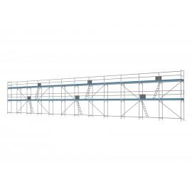 ERNST Traufseitengerüst 180 m² - 2,5 m Felder - 30 m lang - 6 m Arbeitshöhe, 0,80 m breit