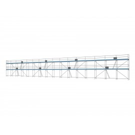 ERNST Traufseitengerüst 240 m² - 2,5 m Felder - 40 m lang - 6 m Arbeitshöhe, 0,80 m breit