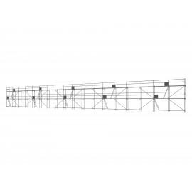 ERNST Traufseitengerüst 270 m² - 2,5 m Felder - 45 m lang - 6 m Arbeitshöhe, 0,80 m breit