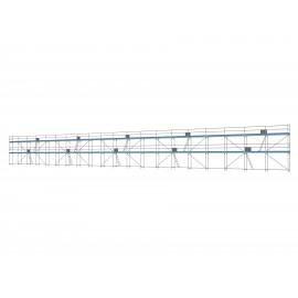 ERNST Traufseitengerüst 300 m² - 2,5 m Felder - 50 m lang - 6 m Arbeitshöhe, 0,80 m breit