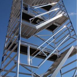 ASC Treppengerüst mit Schrägtreppen Premium