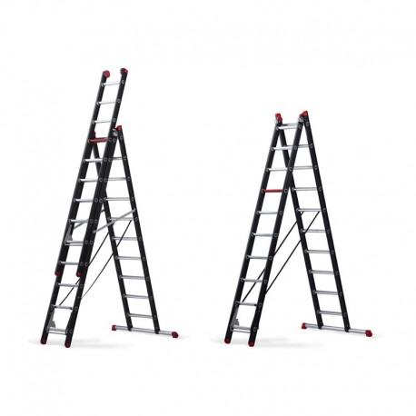 Mounter - Industrie Leitern ( mit schwarzer Pulverbeschichtung aus Holmen)