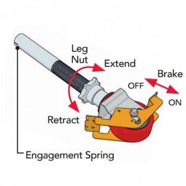 Altrex Rad, Durchmesser 125 mm incl. einstellbaren Spindeln für MiTower und MiTower Plus