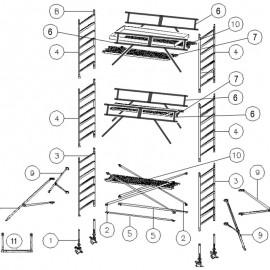 Einzelteile Rollgerüste